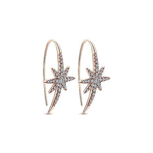 14k Pink Gold Starlis Drop Earrings angle 2