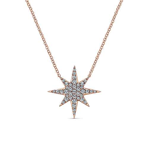 Gabriel - 14k Pink Gold Starlis Fashion Necklace