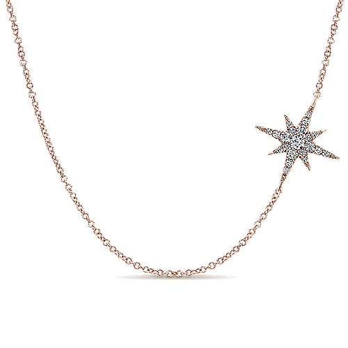 Gabriel - 14k Pink Gold Starlis Fashion Necklace
