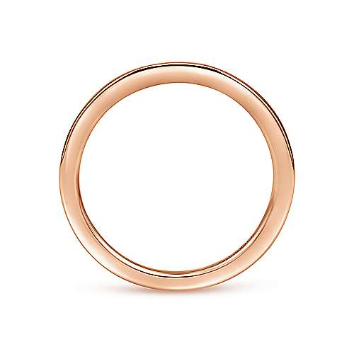 14k Pink Gold Straight Wedding Band angle 2
