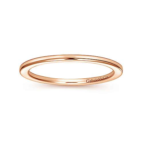 14k Pink Gold Straight Wedding Band angle 5