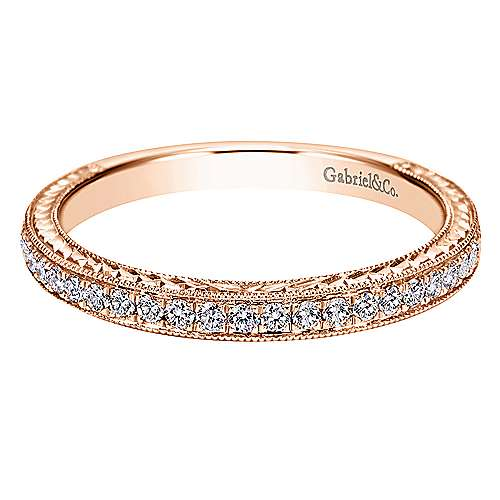 Gabriel - 14k Pink Gold Victorian Straight Wedding Band