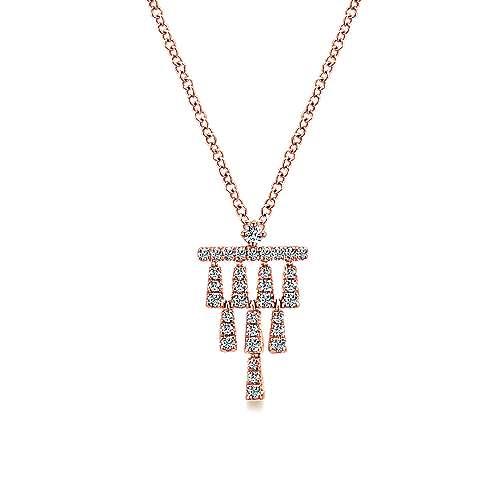 Gabriel - 14k Rose Gold Art Moderne Fashion Necklace