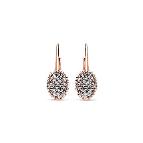 14k Rose Gold Bombay Drop Earrings angle 1
