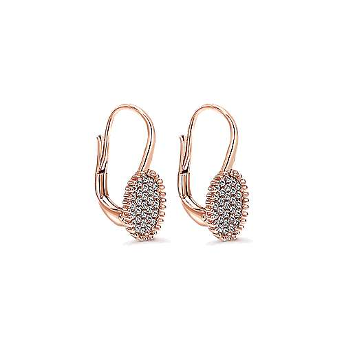 14k Rose Gold Bombay Drop Earrings angle 2