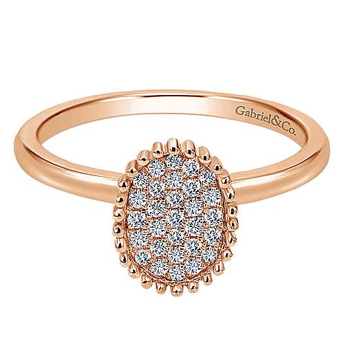 Gabriel - 14k Rose Gold Bombay Fashion Ladies' Ring