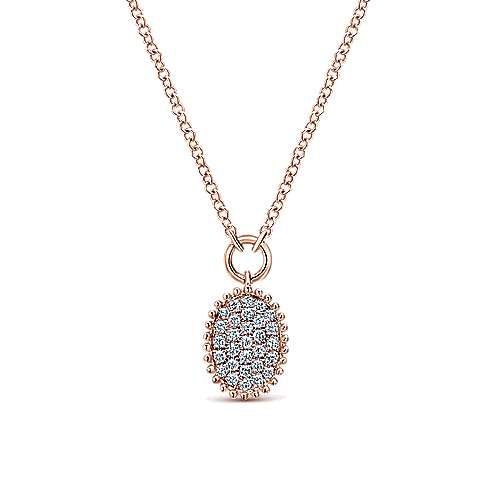 Gabriel - 14k Rose Gold Bombay Fashion Necklace