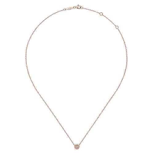 14k Rose Gold Bombay Fashion Necklace angle 2