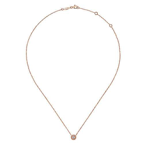 14k Rose Gold Bombay Fashion Necklace angle 2