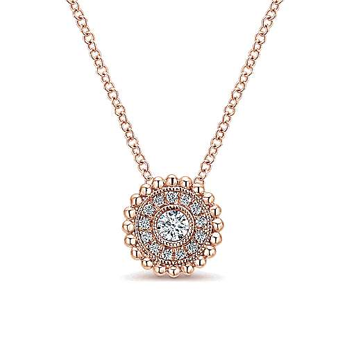14k Rose Gold Bombay Fashion Necklace angle 1