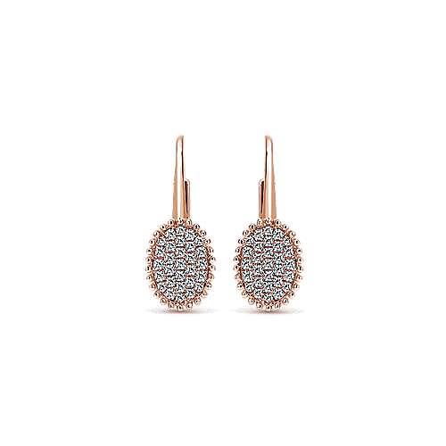 14k Rose Gold Bujukan Drop Earrings angle 1