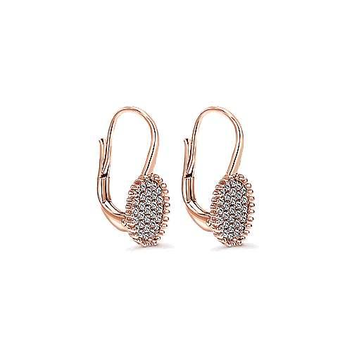 14k Rose Gold Bujukan Drop Earrings angle 2