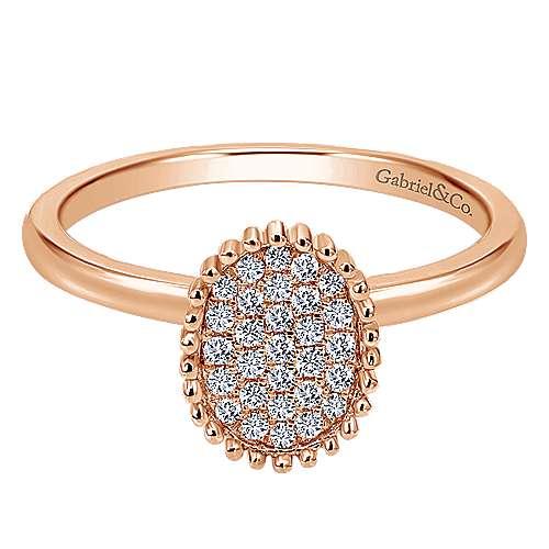 14k Rose Gold Bujukan Fashion Ladies' Ring angle 1