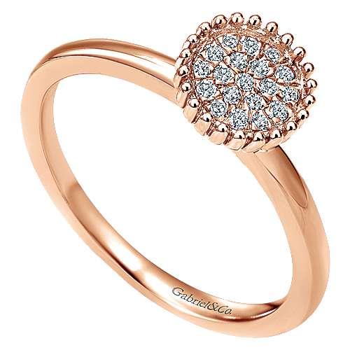 14k Rose Gold Bujukan Fashion Ladies' Ring angle 3