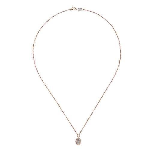 14k Rose Gold Bujukan Fashion Necklace angle 2