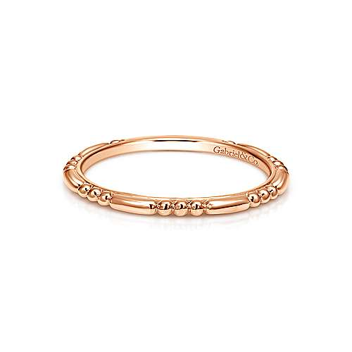 14k Rose Gold Bujukan Midi Ladies' Ring