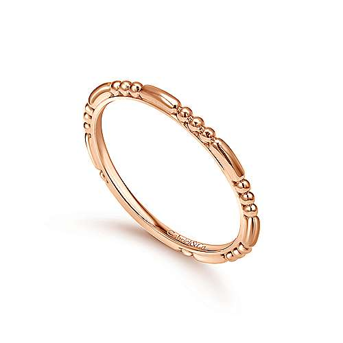 14k Rose Gold Bujukan Midi Ladies' Ring angle 3