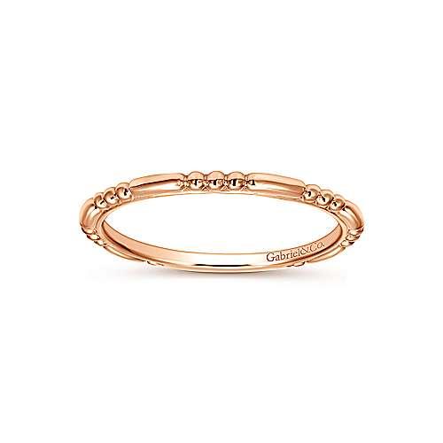 14k Rose Gold Bujukan Midi Ladies' Ring angle 4