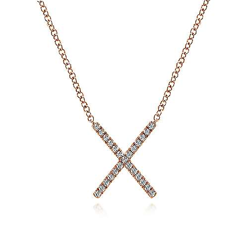 14k Rose Gold Care Collection Fashion Necklace