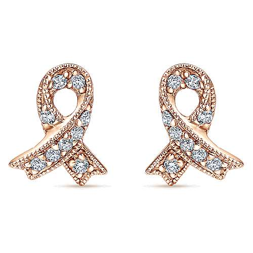 Gabriel - 14k Rose Gold Care Collection Stud Earrings