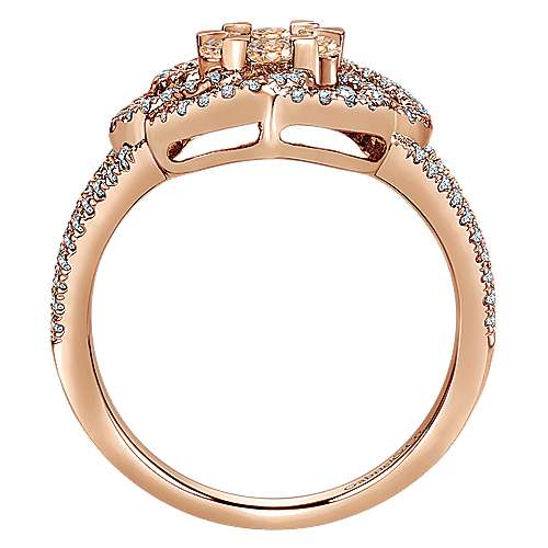 14k Rose Gold Cocoa Classic Ladies' Ring angle 2