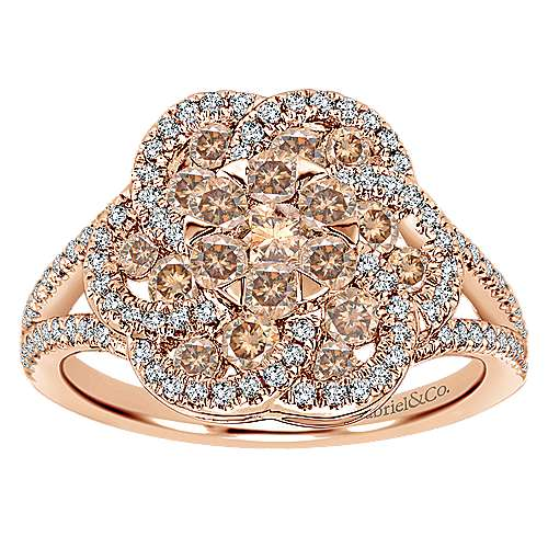 14k Rose Gold Cocoa Classic Ladies' Ring angle 4