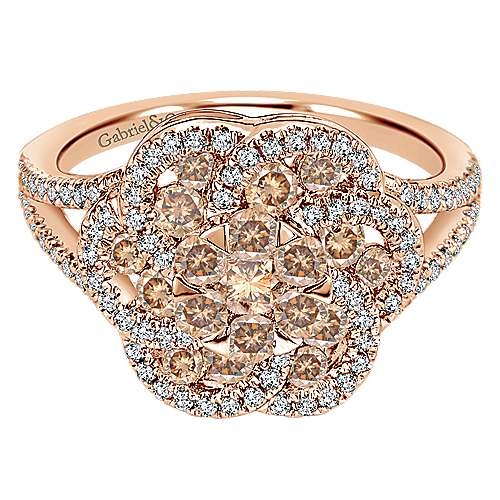 Gabriel - 14k Rose Gold Cocoa Fashion Ladies' Ring