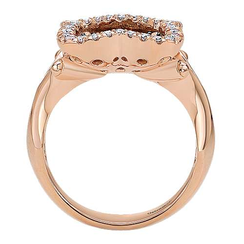 14k Rose Gold Cocoa Fashion Ladies' Ring angle 2