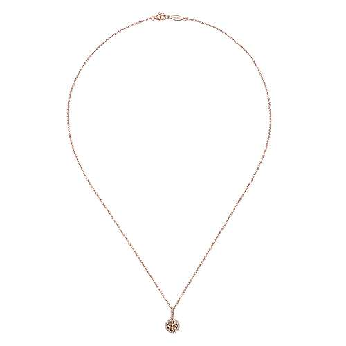 14k Rose Gold Cocoa Fashion Necklace angle 2