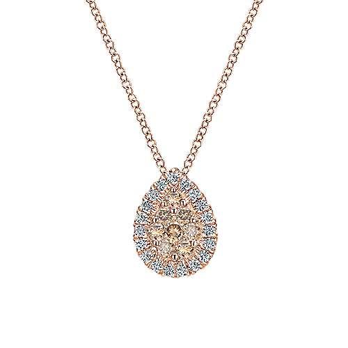 Gabriel - 14k Rose Gold Cocoa Fashion Necklace