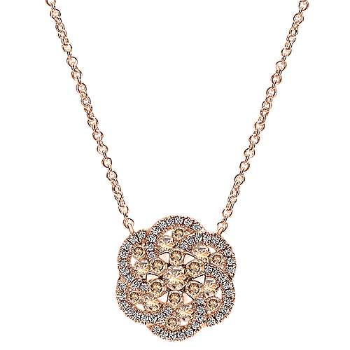 Gabriel - 14k Rose Gold Cocoa Fashion Necklace