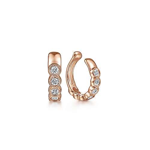 Gabriel - 14k Rose Gold Comets Earcuffs Earrings