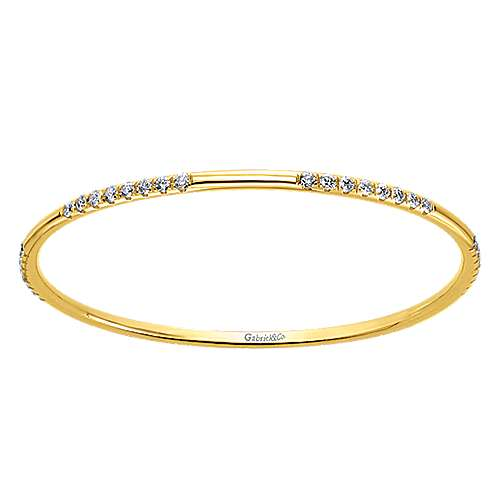 Gabriel - 14k Rose Gold Contemporary Bangle