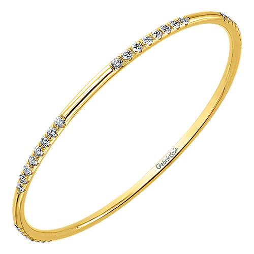 14k Rose Gold Contemporary Bangle angle 2