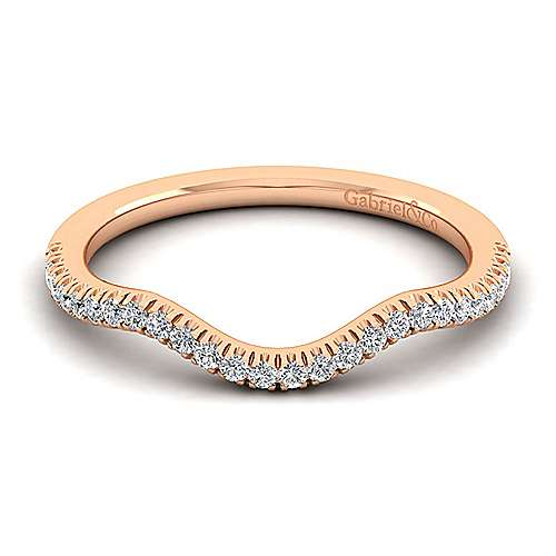 Gabriel - 14k Rose Gold Contemporary Curved Wedding Band