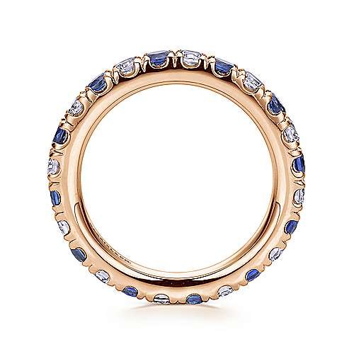 14k Rose Gold Contemporary Eternity Band Anniversary Band