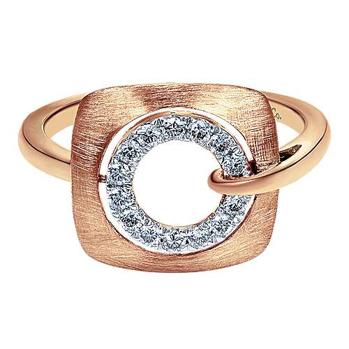Gabriel - 14k Rose Gold Contemporary Fashion Ladies' Ring