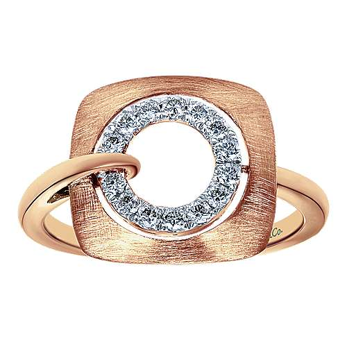 14k Rose Gold Contemporary Fashion Ladies' Ring angle 4