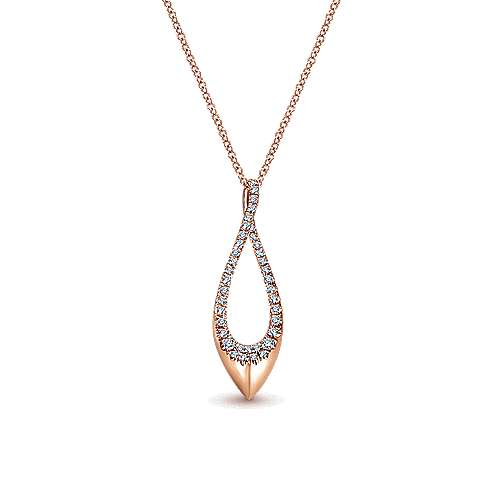 14k Rose Gold Contemporary Fashion Necklace