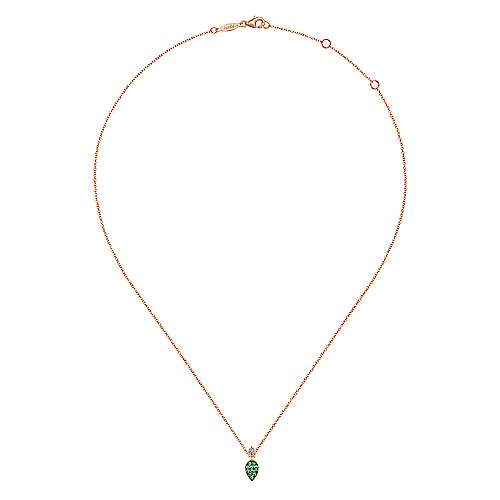 14k Rose Gold Contemporary Fashion Necklace angle 2