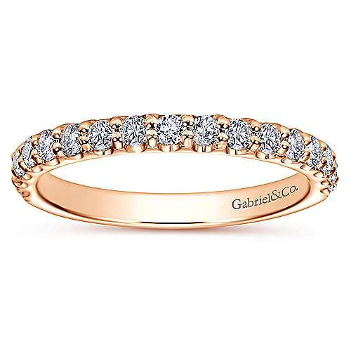 14k Rose Gold Contemporary Straight Anniversary Band