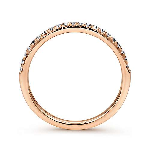 14k Rose Gold Contemporary Straight Wedding Band