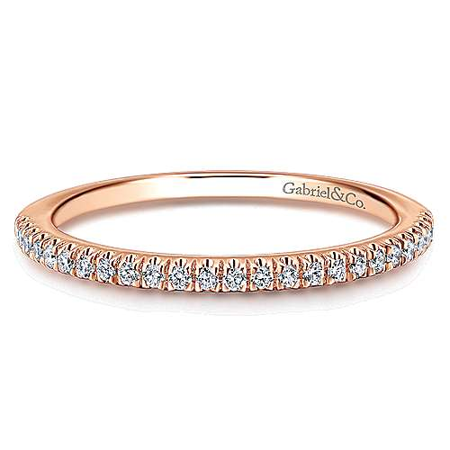 Gabriel - 14k Rose Gold Contemporary Straight Wedding Band