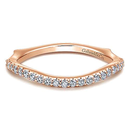 14k Rose Gold Contemporary Wedding Band