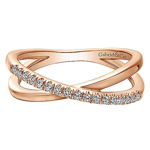 Gabriel - 14k Rose Gold Contemporary Wide Band Ladies' Ring