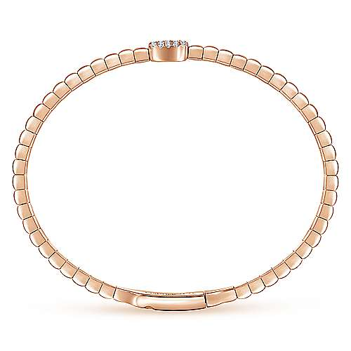 14k Rose Gold Demure Bangle angle 3