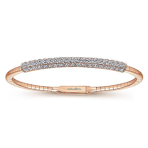 Gabriel - 14k Rose Gold Demure Bangle