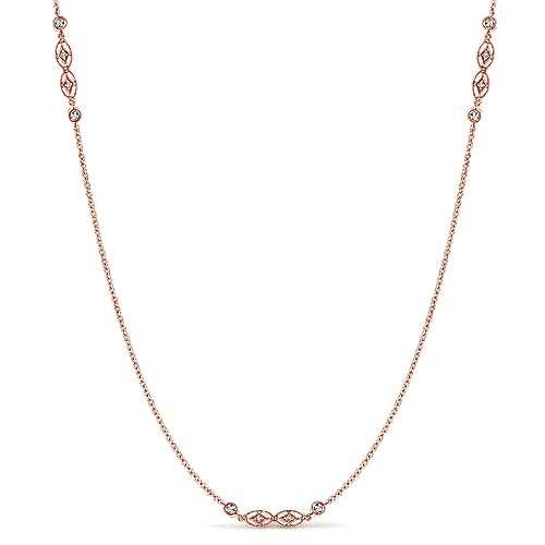 14k Rose Gold  Diamond By The Yard