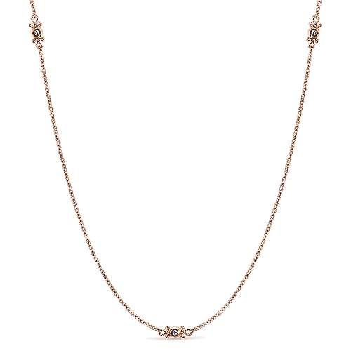 Gabriel - 14k Rose Gold Endless Diamonds Diamond By The Yard Necklace