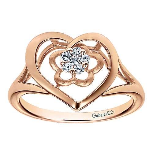 14k Rose Gold Eternal Love Fashion Ladies' Ring angle 4
